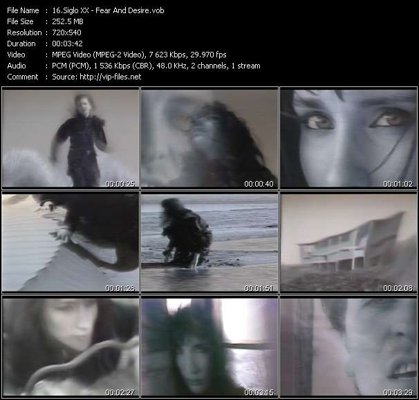 Screenshot of Music Video Siglo XX - Fear And Desire