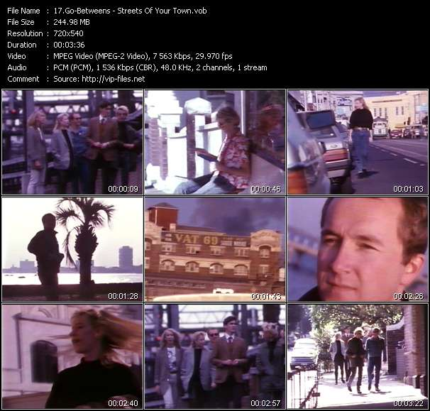 Screenshot of Music Video Go-Betweens - Streets Of Your Town