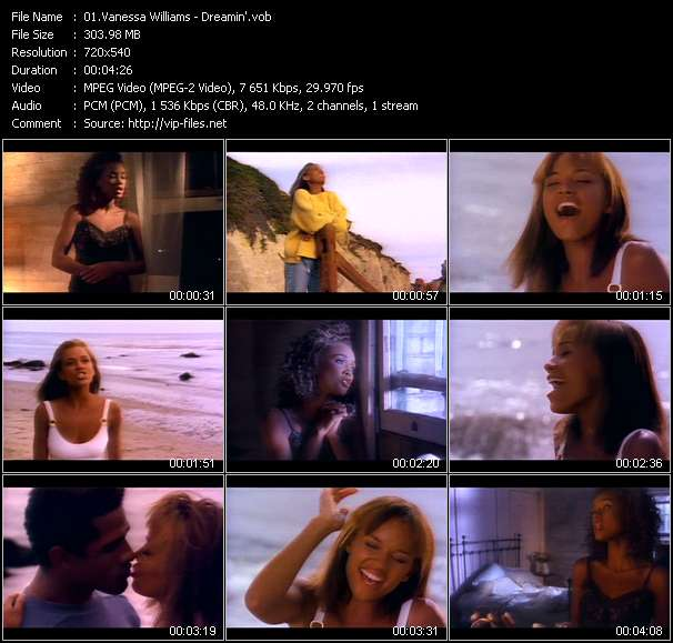 Screenshot of Music Video Vanessa Williams - Dreamin'