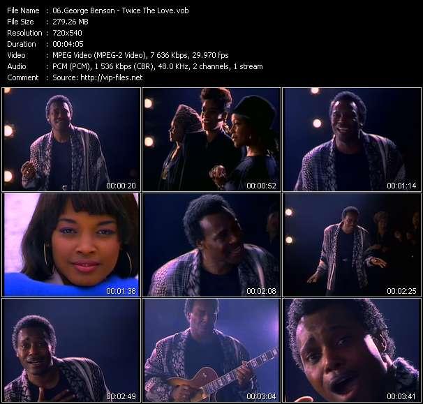 Screenshot of Music Video George Benson - Twice The Love