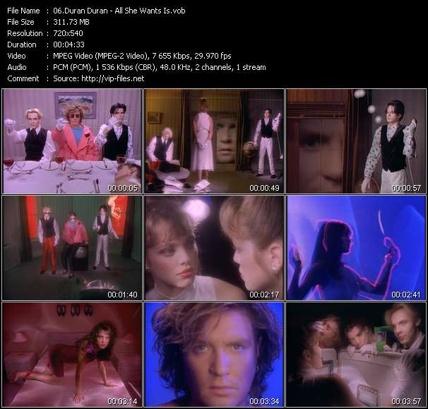 Duran Duran video vob