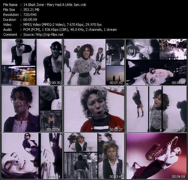 Screenshot of Music Video Blazt Zone - Mary Had A Little Jam