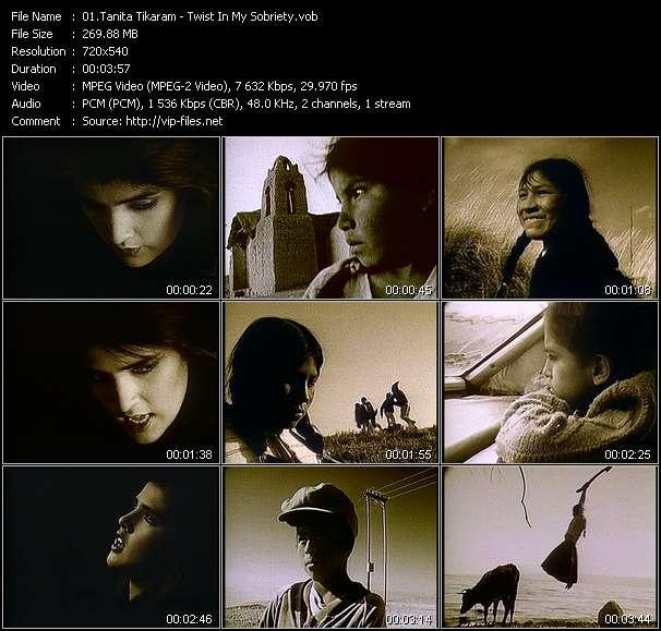 Screenshot of Music Video Tanita Tikaram - Twist In My Sobriety