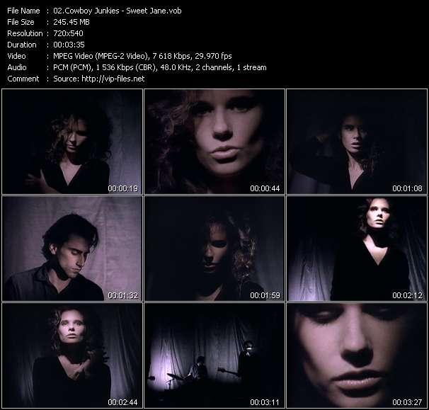 Screenshot of Music Video Cowboy Junkies - Sweet Jane