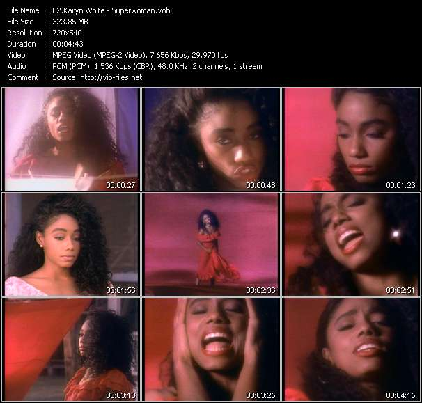 Screenshot of Music Video Karyn White - Superwoman