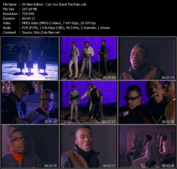 Screenshot of Music Video New Edition - Can You Stand The Rain