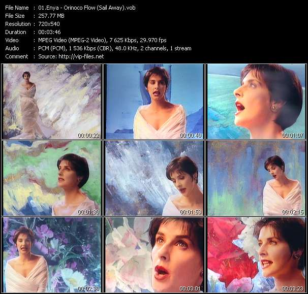 Screenshot of Music Video Enya - Orinoco Flow (Sail Away)