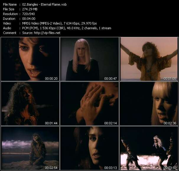 Screenshot of Music Video Bangles - Eternal Flame