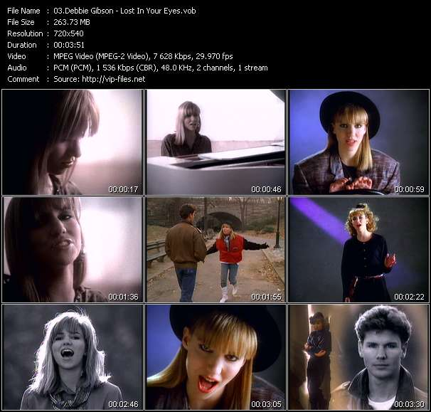 Screenshot of Music Video Debbie Gibson - Lost In Your Eyes