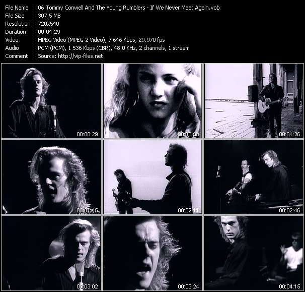 Screenshot of Music Video Tommy Conwell And The Young Rumblers - If We Never Meet Again