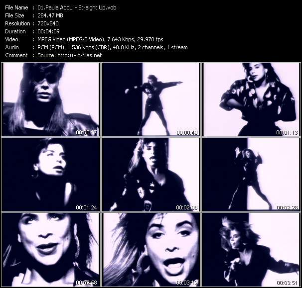 Screenshot of Music Video Paula Abdul - Straight Up