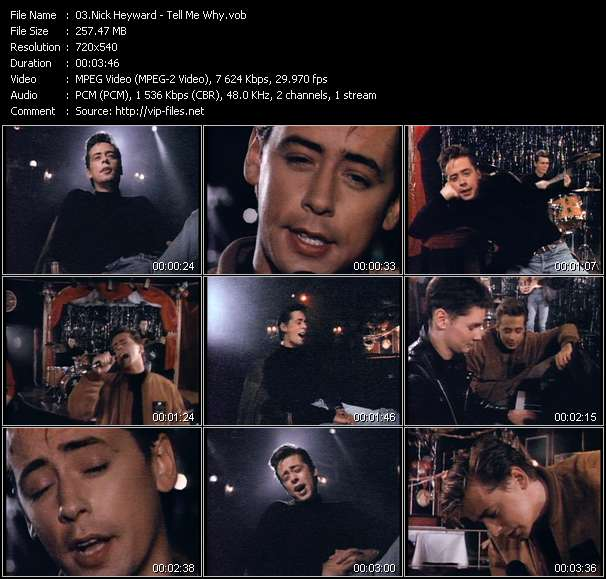 Screenshot of Music Video Nick Heyward - Tell Me Why