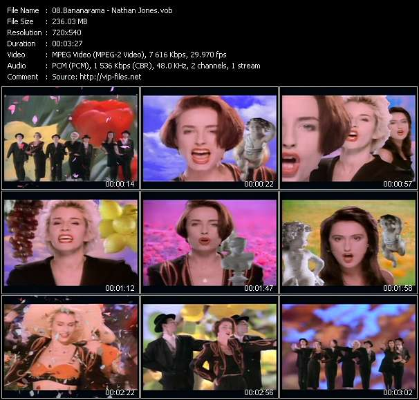 Bananarama video vob
