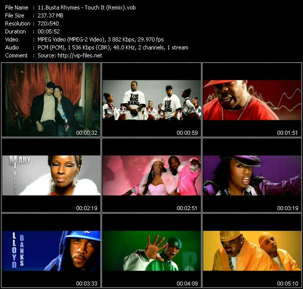 Busta Rhymes Feat. Mary J. Blige, Missy Elliot, Rah Digga, Dmx, Lloyd Banks And Papoose video vob