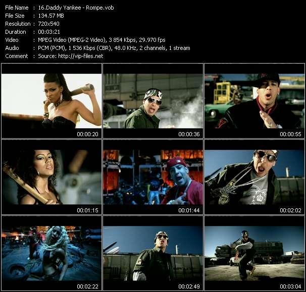 Daddy Yankee video vob