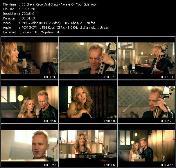 Sheryl Crow And Sting video vob