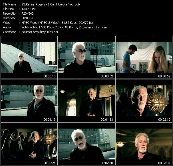 Kenny Rogers video vob