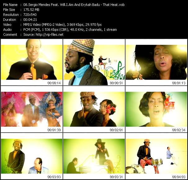Sergio Mendes Feat. Will.I.Am And Erykah Badu video vob