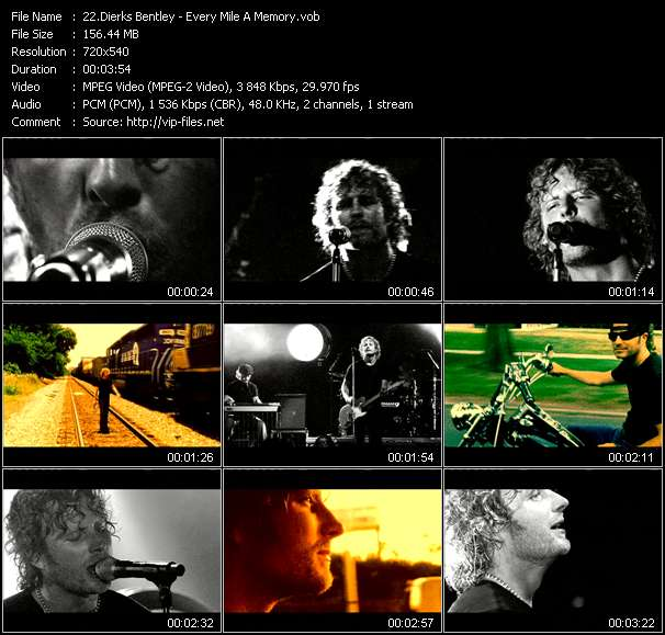 Dierks Bentley video vob