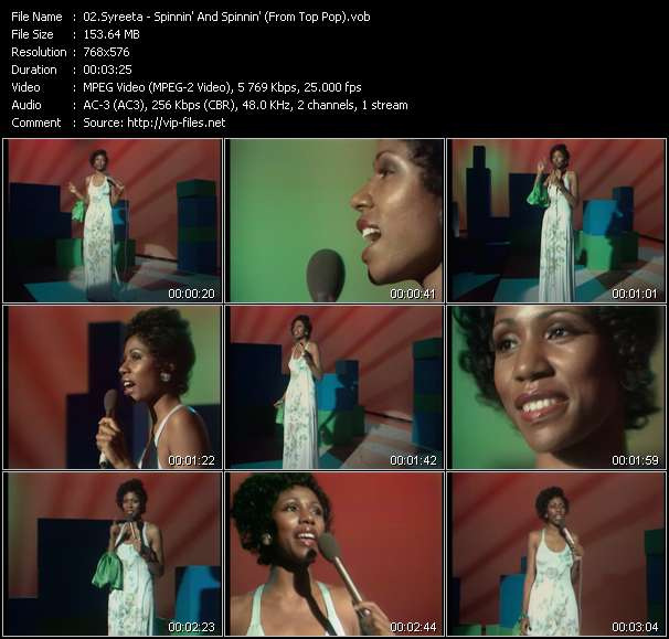 Screenshot of Music Video Syreeta - Spinnin' And Spinnin' (From Top Pop)