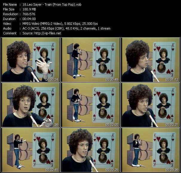 Screenshot of Music Video Leo Sayer - Train (From Top Pop)