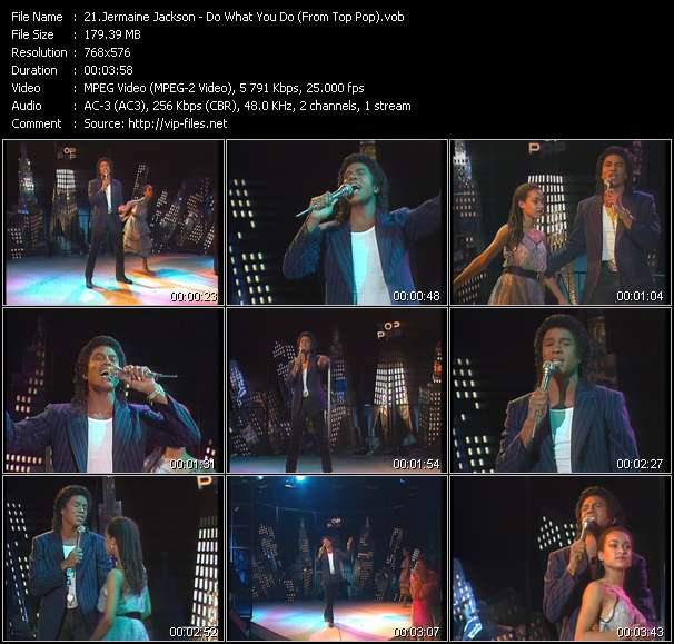 Screenshot of Music Video Jermaine Jackson - Do What You Do (From Top Pop)
