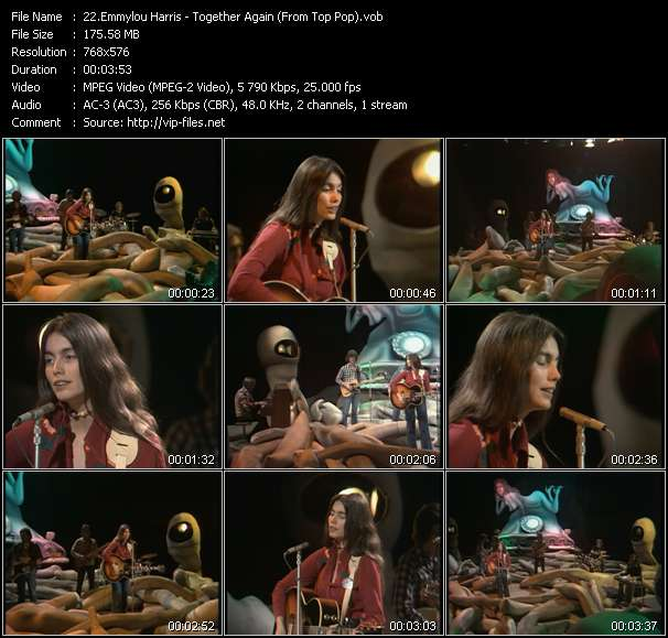 Screenshot of Music Video Emmylou Harris - Together Again (From Top Pop)