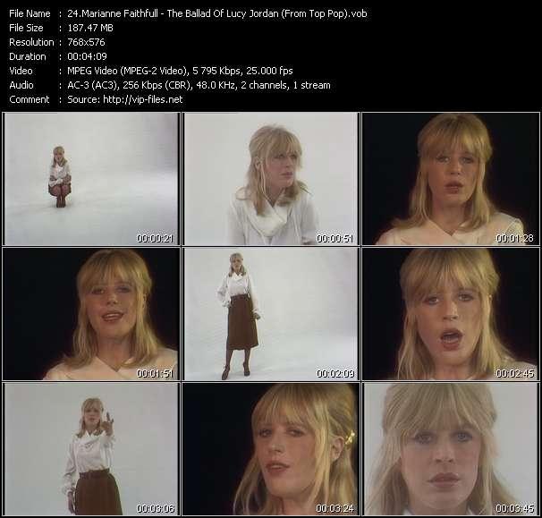 Screenshot of Music Video Marianne Faithfull - The Ballad Of Lucy Jordan (From Top Pop)
