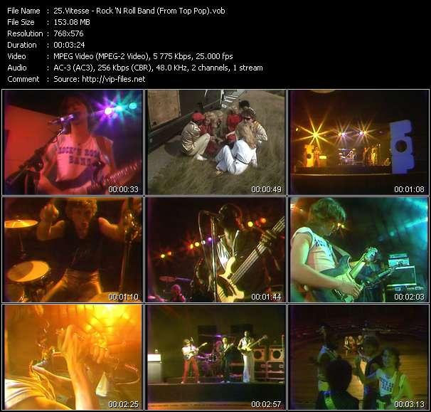 Screenshot of Music Video Vitesse - Rock 'N Roll Band (From Top Pop)
