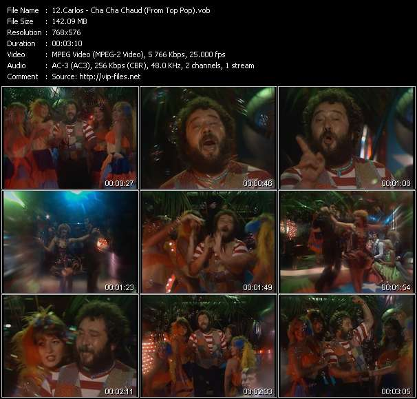 Screenshot of Music Video Carlos - Cha Cha Chaud (From Top Pop)
