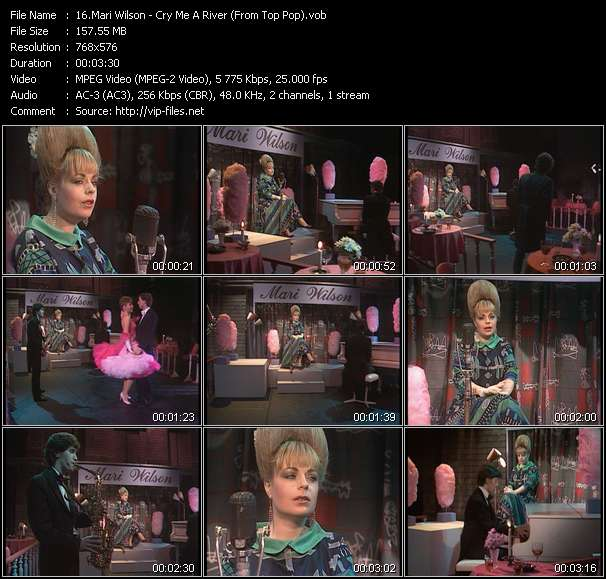Screenshot of Music Video Mari Wilson - Cry Me A River (From Top Pop)