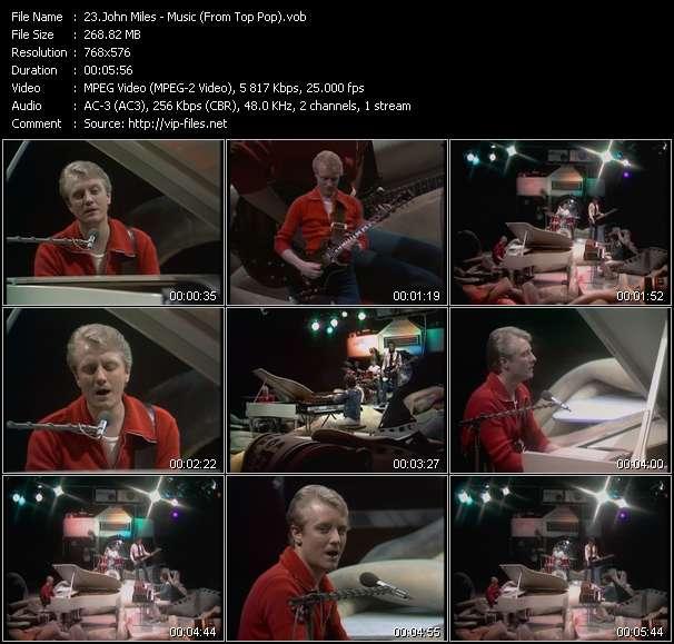 Screenshot of Music Video John Miles - Music (From Top Pop)