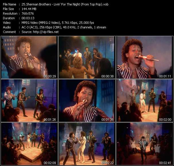 Screenshot of Music Video Sherman Brothers - Livin' For The Night (From Top Pop)