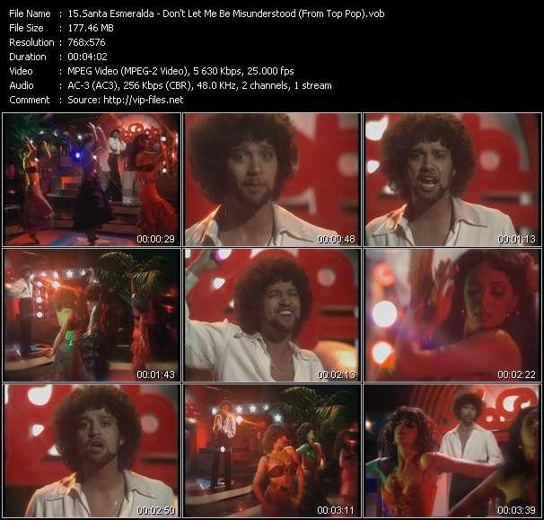 Santa Esmeralda clips musicaux vob