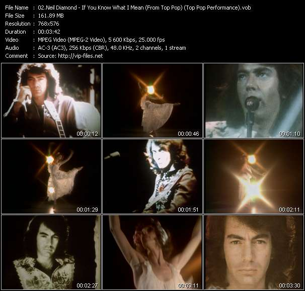 Neil Diamond video vob