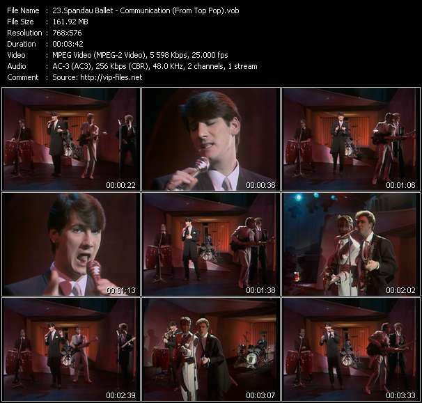 Spandau Ballet video vob