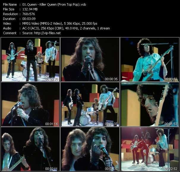 Queen clips musicaux vob
