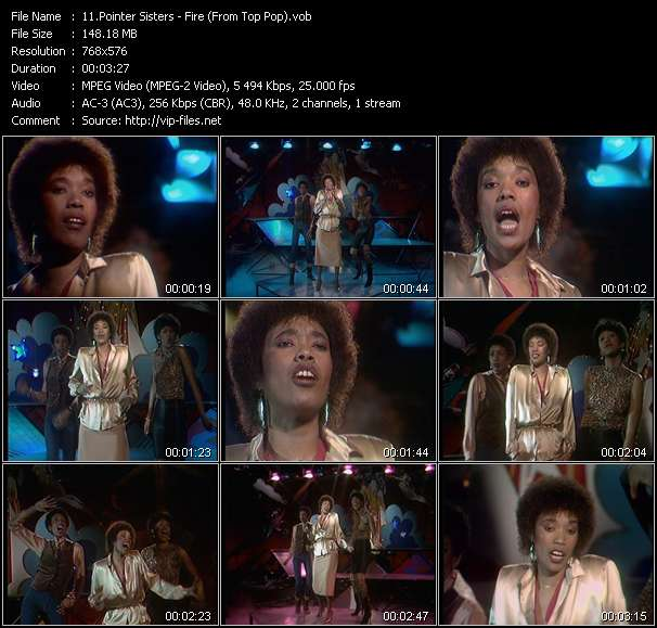 Pointer Sisters video vob