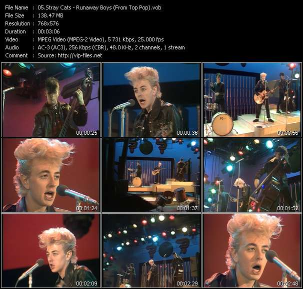 Stray Cats clips musicaux vob
