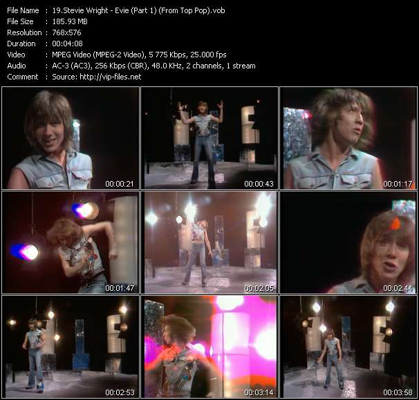 Stevie Wright видеоклип vob