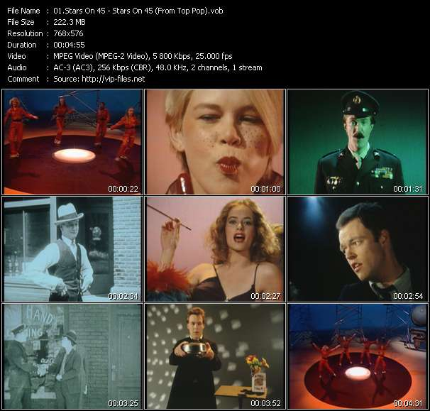 Screenshot of Music Video Stars On 45 - Stars On 45 (From Top Pop)