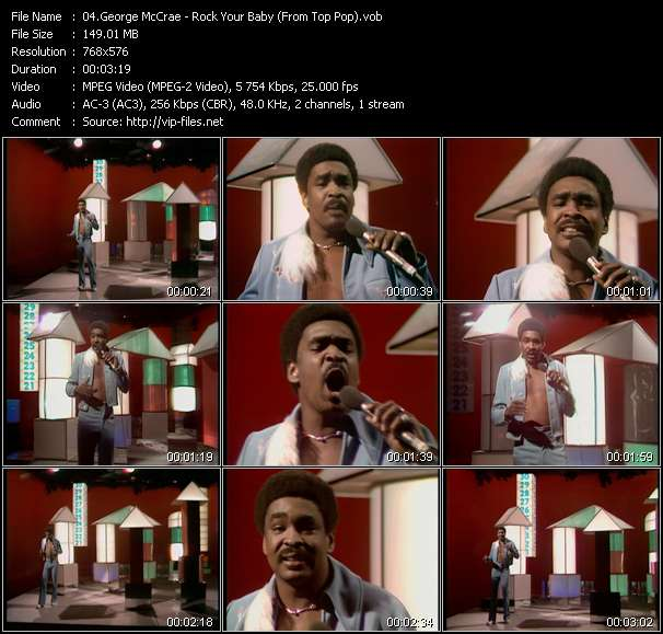 Screenshot of Music Video George McCrae - Rock Your Baby (From Top Pop)