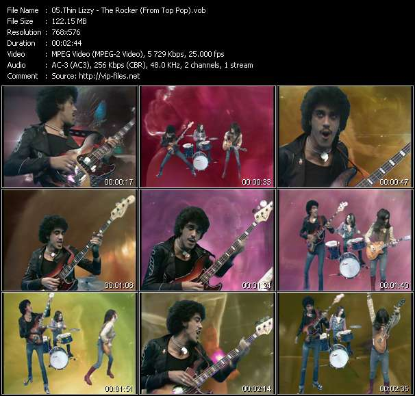 Screenshot of Music Video Thin Lizzy - The Rocker (From Top Pop)