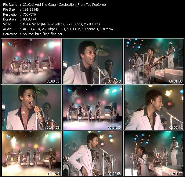 Screenshot of Music Video Kool And The Gang - Celebration (From Top Pop)