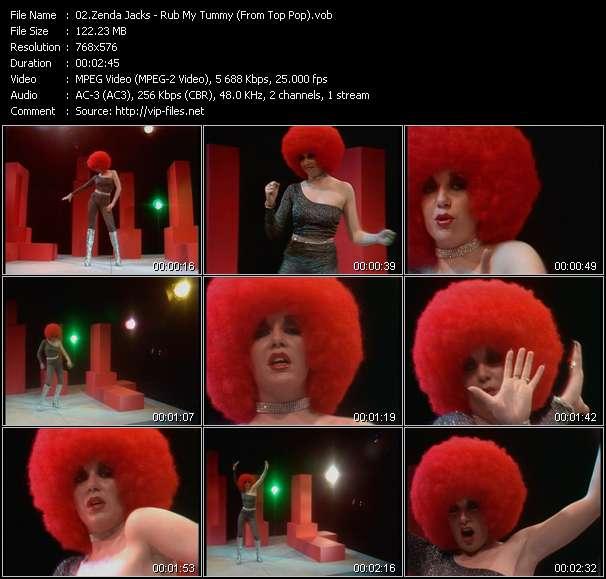 Screenshot of Music Video Zenda Jacks - Rub My Tummy (From Top Pop)