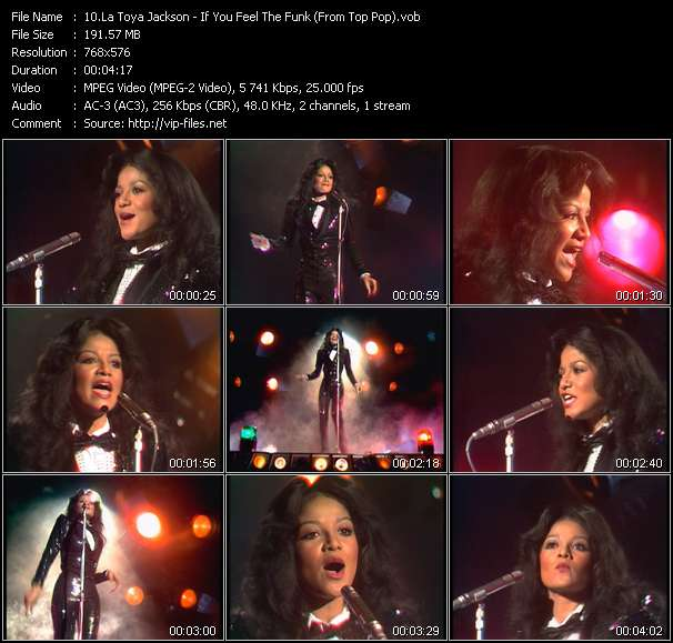 Screenshot of Music Video La Toya Jackson - If You Feel The Funk (From Top Pop)