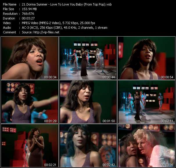 Screenshot of Music Video Donna Summer - Love To Love You Baby (From Top Pop)
