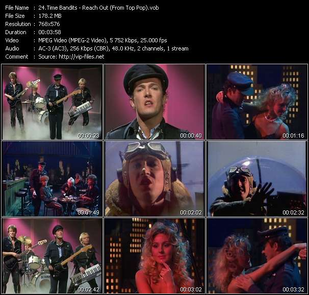 Screenshot of Music Video Time Bandits - Reach Out (From Top Pop)