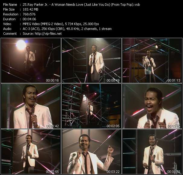 Screenshot of Music Video Ray Parker Jr. - A Woman Needs Love (Just Like You Do) (From Top Pop)