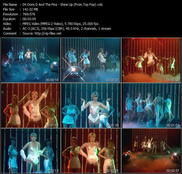 Screenshot of Music Video Doris D And The Pins - Shine Up (From Top Pop)